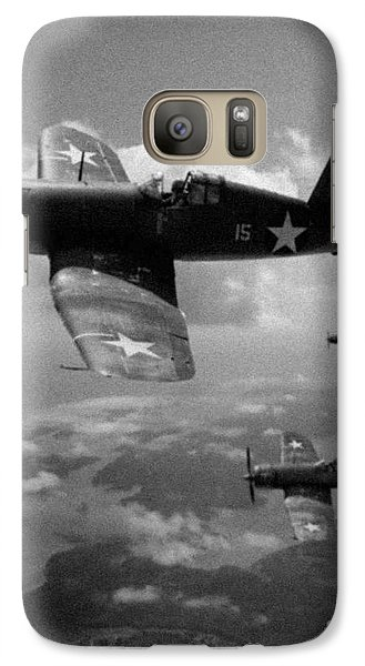 Galaxy Case featuring the photograph Faux Wwii Corsair Photo by Stephen Roberson