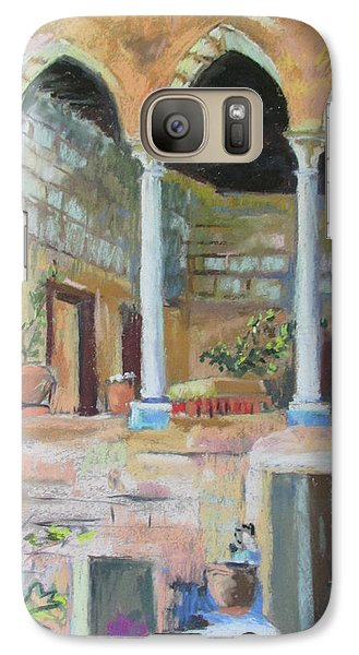 Galaxy Case featuring the painting Fauzi Azar Mansion by Linda Novick