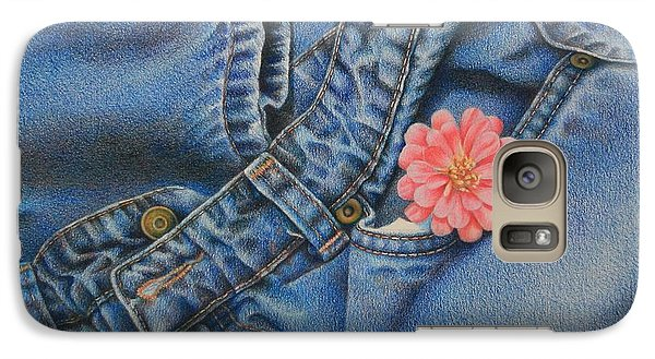 Galaxy Case featuring the painting Favorite Jeans by Pamela Clements