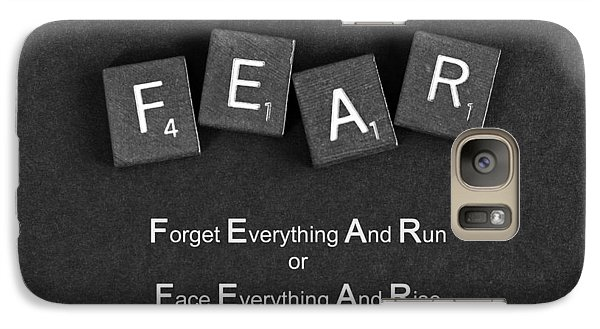 Galaxy Case featuring the photograph Fear Inspirational Quote by Barbara West
