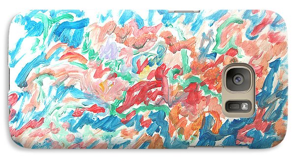 Galaxy Case featuring the painting Feast Of Blue And Red by Esther Newman-Cohen
