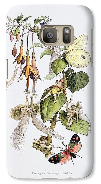 Feasting And Fun Among The Fuschias Galaxy S7 Case by Richard Doyle