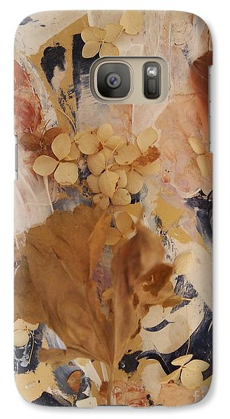 Galaxy Case featuring the mixed media Feather Fantasy by Nancy Kane Chapman