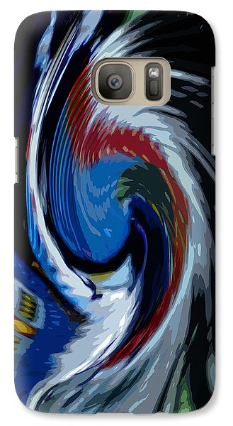 Galaxy Case featuring the photograph Feather Whirl by Randy Pollard