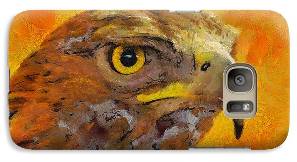 Galaxy Case featuring the painting Feathered Predator by Wayne Pascall
