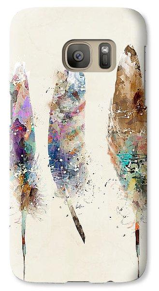Feathers Galaxy S7 Case by Bri B