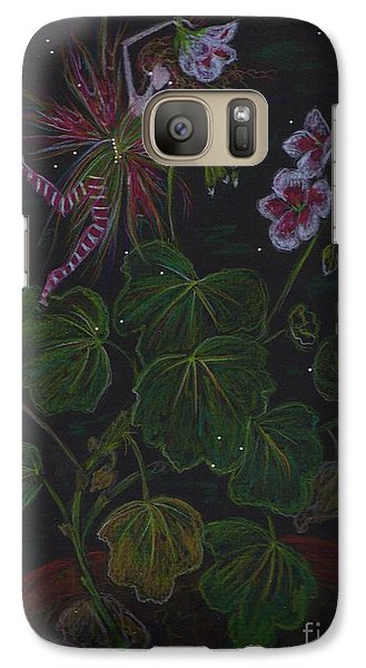 Galaxy Case featuring the drawing February by Dawn Fairies