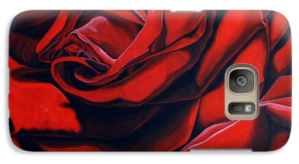 Galaxy Case featuring the painting February Rose by Thu Nguyen