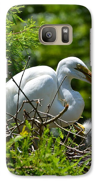 Galaxy Case featuring the photograph Feed Me Mom by Judith Morris