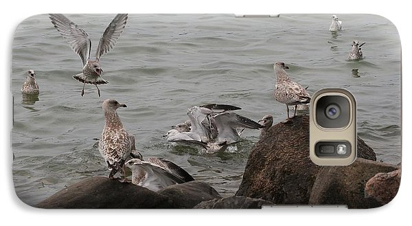 Galaxy Case featuring the photograph Feeding Frenzy by Patricia Overmoyer