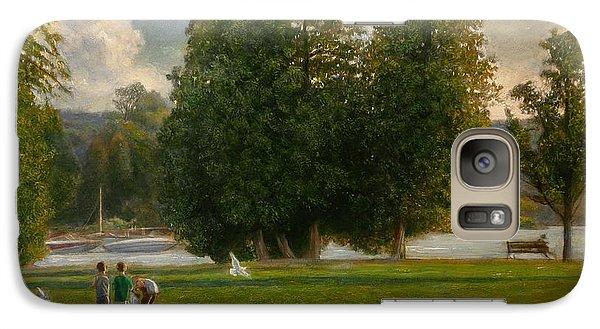 Galaxy Case featuring the painting Feeding The Gulls by Wayne Daniels