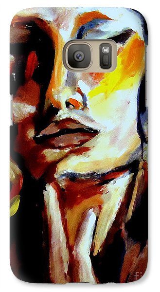 Galaxy Case featuring the painting Feel by Helena Wierzbicki