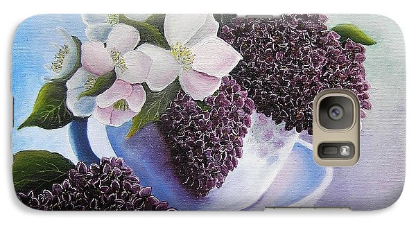 Galaxy Case featuring the painting Feel The Fragrance by Vesna Martinjak