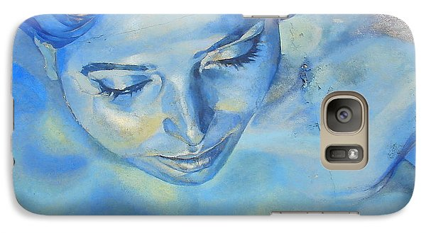 Galaxy Case featuring the photograph Feeling Blue by Ramona Johnston