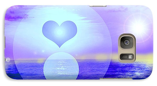 Galaxy Case featuring the digital art Feeling Heart by Ute Posegga-Rudel