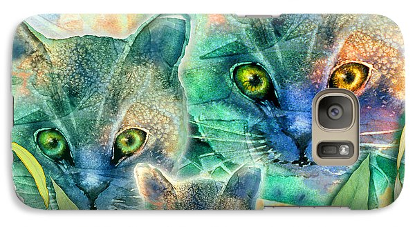 Galaxy Case featuring the painting Feline Family by Teresa Ascone