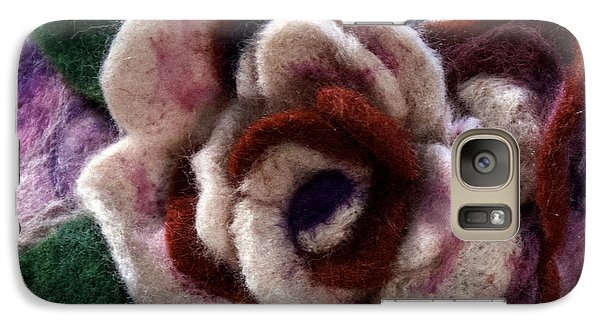 Galaxy Case featuring the mixed media Felted Rose by Shelley Bain