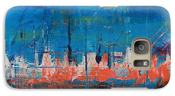 Galaxy Case featuring the painting Felulukas by Lucy Matta