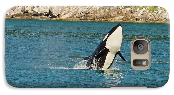 Galaxy Case featuring the photograph Female Orca Cheval Island Alaska by Michael Rogers