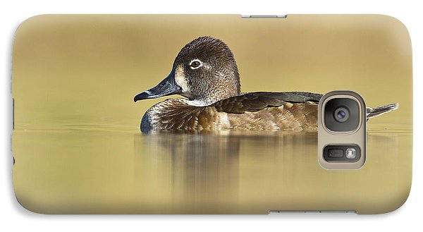 Galaxy Case featuring the photograph Female Ring Necked Duck by Bryan Keil