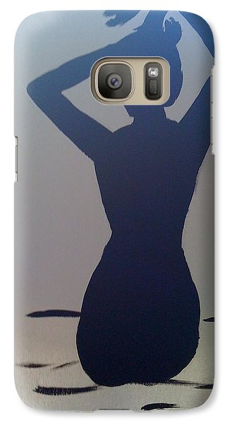 Galaxy Case featuring the painting Female Silhouette by Judi Goodwin