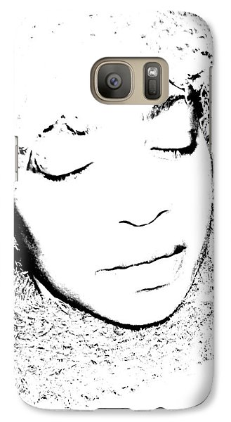 Galaxy Case featuring the photograph Femme In Headdress by Cleaster Cotton