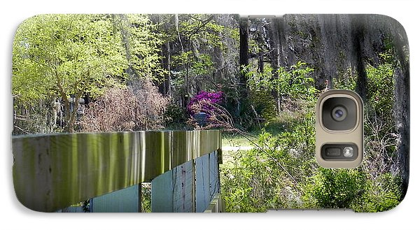 Galaxy Case featuring the photograph Fence Points The Way by Patricia Greer