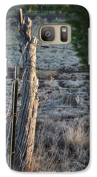 Galaxy Case featuring the photograph Fence Post by David S Reynolds