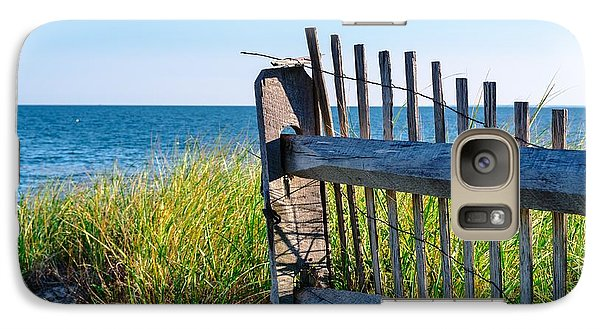 Galaxy Case featuring the photograph Fence With A Great View by Mike Ste Marie