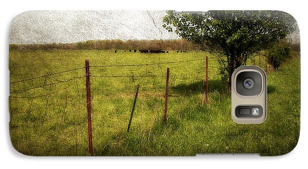 Galaxy Case featuring the photograph Fence With Tree by Cynthia Lassiter