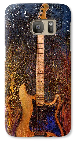 Galaxy Case featuring the painting Fender On Fire by Andrew King