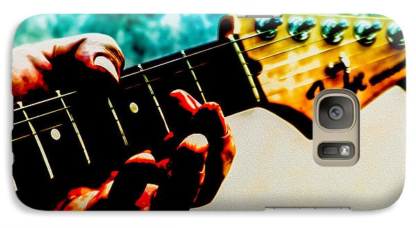 Eric Clapton Galaxy S7 Case - Fender Strat by Bob Orsillo