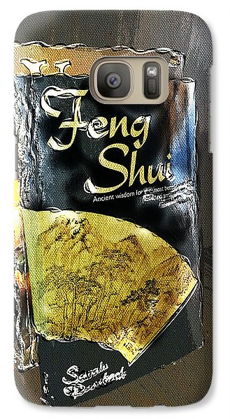 Galaxy Case featuring the painting Feng Shui Abstract - Small by Nik Helbig