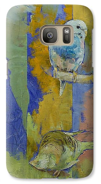 Parakeet Galaxy S7 Case - Feng Shui Parakeets by Michael Creese
