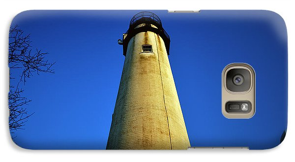 Galaxy Case featuring the photograph Fenwick Island Lightouse And Blue Sky by Bill Swartwout
