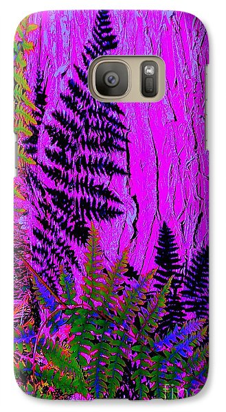 Galaxy Case featuring the photograph Fern Shadows by Ann Johndro-Collins
