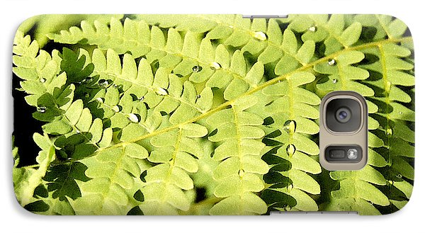 Galaxy Case featuring the photograph Fern With Dew by Mary Bedy