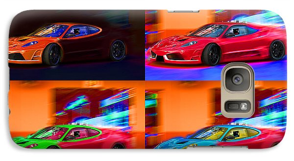 Galaxy Case featuring the photograph Ferrari Collage by Gunter Nezhoda
