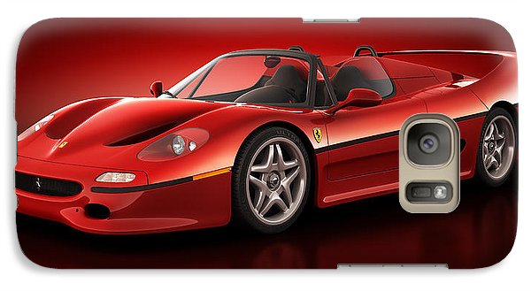 Galaxy Case featuring the digital art Ferrari F50 - Flare by Marc Orphanos