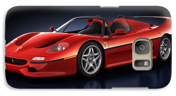 Galaxy Case featuring the digital art Ferrari F50 - Phantasm by Marc Orphanos