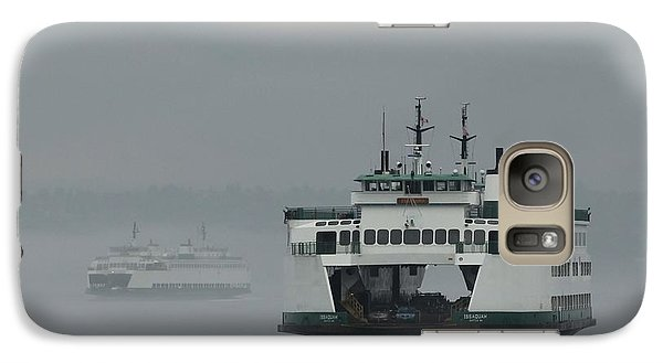 Galaxy Case featuring the photograph Ferries Pass In The Fog by E Faithe Lester