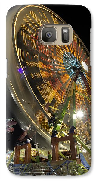 Galaxy Case featuring the photograph Ferris Wheel At Night by Bob Noble Photography