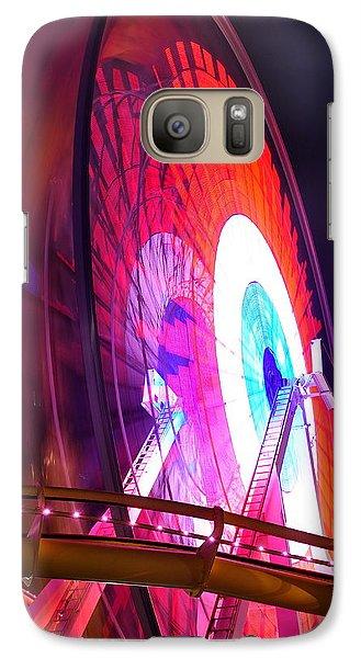 Galaxy Case featuring the digital art Ferris Wheel by Gandz Photography