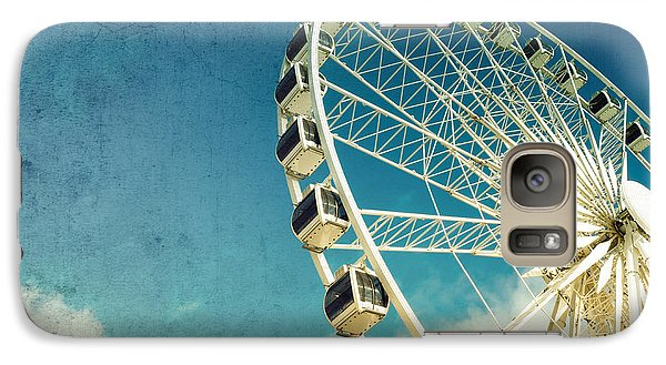 Ferris Wheel Retro Galaxy Case by Jane Rix