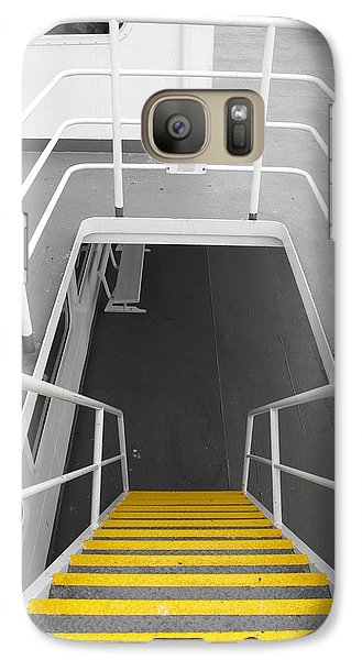 Galaxy Case featuring the photograph Ferry Stairwell by Marilyn Wilson