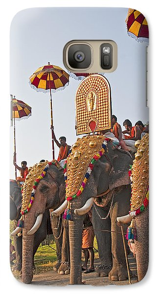 Galaxy Case featuring the photograph Kerala Festival Elephants by Dennis Cox WorldViews