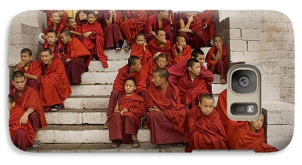 Galaxy Case featuring the digital art Festival In Bhutan by Angelika Drake