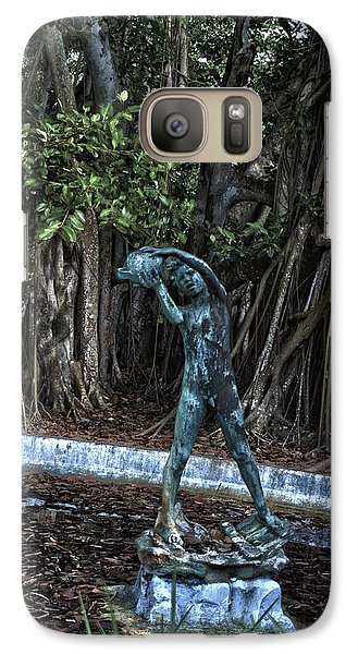 Galaxy Case featuring the photograph Fetching Water by Timothy Lowry