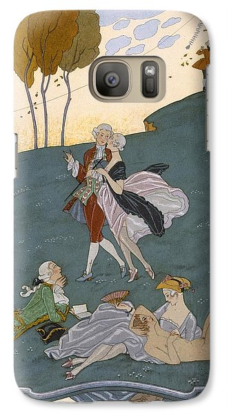 Fetes Galantes Galaxy Case by Georges Barbier