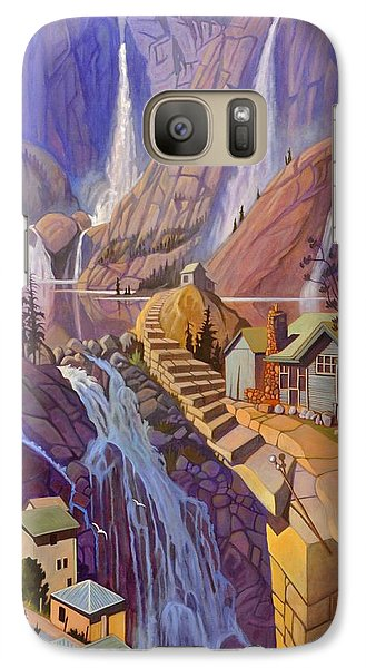 Galaxy Case featuring the painting Fibonacci Stairs by Art James West
